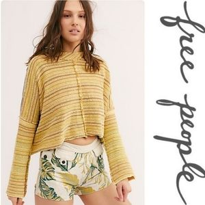 FREE PEOPLE Catalina Sunset Crop Pullover Sweater